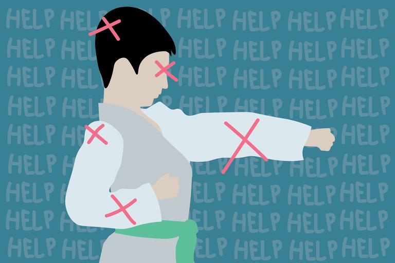 illustration of child doing judo